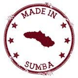 Feito no selo de Sumba ilustração royalty free