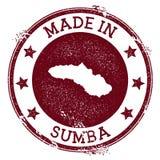 Feito no selo de Sumba ilustração do vetor