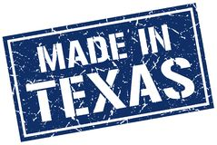 Feito no selo de Texas ilustração stock