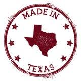 Feito no selo de Texas ilustração do vetor