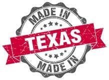 feito no selo de Texas ilustração royalty free