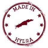 Feito no selo do Hydra ilustração stock