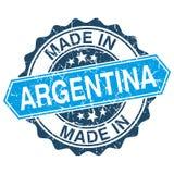 Feito no selo do vintage de Argentina ilustração stock