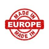 Feito no selo vermelho de Europa ilustração do vetor no backgroun branco ilustração royalty free