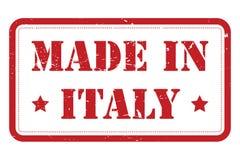 Feito no sinal de Itália ilustração do vetor