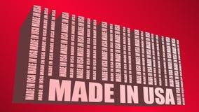 Feito no texto e no código de barras dos EUA das mesmas palavras Foto de Stock