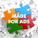 Feito para o ADS no enigma multicolorido ilustração stock