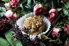 Feito pelo alimento saudável dos doces crus das mãos Imagem de Stock
