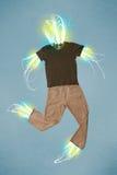 Feixe de energia no conceito da roupa ocasional Imagens de Stock