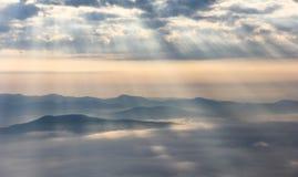 Feixe e névoa fotografia de stock