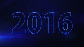 Feixe luminoso azul 2016 ilustração royalty free