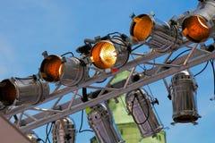Feixe luminoso do estágio com 9 luzes Imagem de Stock Royalty Free