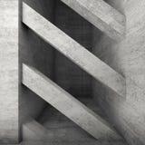 Feixes concretos diagonais interior 3D Fotografia de Stock Royalty Free