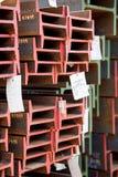 Feixes de aço inoxidável depositados nas pilhas Fotos de Stock Royalty Free