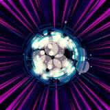 Feixes de luz coloridos abstratos artísticos com uma arte finala abstrata na parte dianteira ilustração do vetor