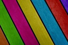 Feixes de madeira coloridos Fotografia de Stock Royalty Free