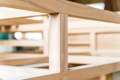 Feixes de madeira novos juntados um com o otro Imagem de Stock