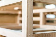 Feixes de madeira novos juntados um com o otro Fotografia de Stock