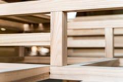 Feixes de madeira novos juntados um com o otro Fotos de Stock