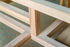 Feixes de madeira novos juntados um com o otro Imagem de Stock Royalty Free