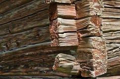 Feixes de madeira vermelhos castigados pelo mau tempo Imagem de Stock Royalty Free