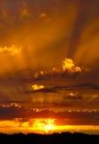 Feixes de Sun Imagem de Stock