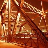 Feixes de sustentação da ponte fotos de stock
