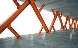 Feixes e estrutura concreta Foto de Stock Royalty Free