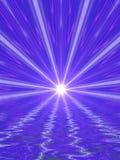Feixes luminosos abstratos Imagens de Stock Royalty Free