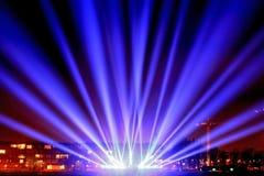 Feixes luminosos no passeio foto de stock royalty free