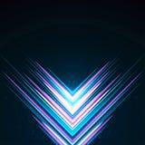 Feixes roxos e azuis refletidos luminosos imagem de stock