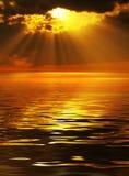 Feixes solares Imagens de Stock Royalty Free