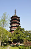 Feiying Pagoda in spring season Royalty Free Stock Images