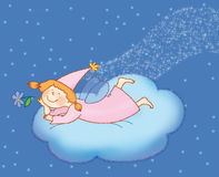 Feja. Little fairy  on  the cloud Stock Photo
