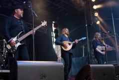 FEJD. Swedish medieval folk rock band FEJD at BURGFOLK festival 2010 stock images