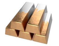Fejka guld Förgylld metall royaltyfri illustrationer