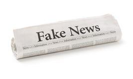 Fejka nyheterna royaltyfri bild