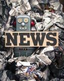 Fejka nyheterna royaltyfri fotografi