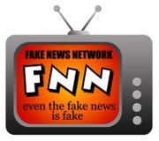 Fejka nyheternanätverket stock illustrationer