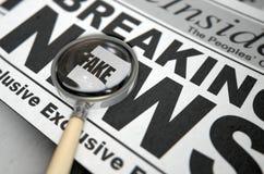 Fejka nyheternatidningen Fotografering för Bildbyråer