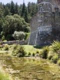 Fejka slotten på Napa Valley, en turist- dragning Arkivbilder