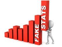 Fejka statistik stock illustrationer