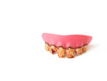 fejka tänder Arkivbild