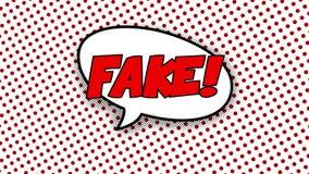 Fejka text i anförandeballong i komisk stilanimering royaltyfri illustrationer