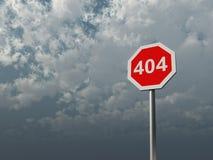 fel 404 Royaltyfri Fotografi