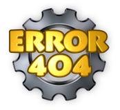 fel 404 Arkivfoto