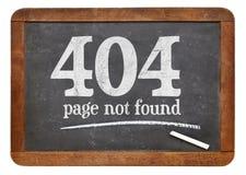 Fel för fopund 404 för sida inte Arkivbilder