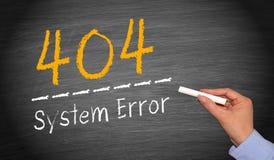 Fel för system 404 Fotografering för Bildbyråer