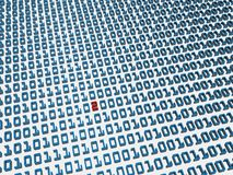 fel för binär kod Royaltyfria Foton