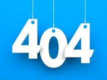 fel 404 funnen inte sida Royaltyfria Bilder